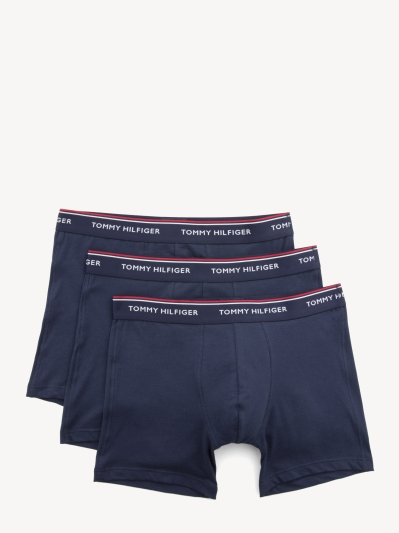 Tommy Hilfiger Navy with Tri-Colour Waistband Trunk 3-Pack