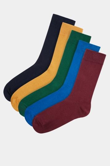Moss 1851 Multi 5 Pack Cotton Blend Socks