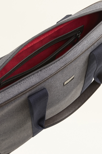 Ted Baker Runaway Grey Marl Nylon Document Bag