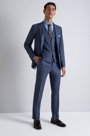 French Connection Slim Fit Blue Mist Jacket