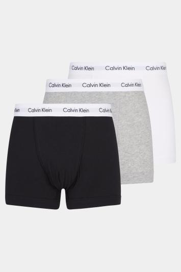 Calvin Klein Black, White & Grey Marl 3-Pack Trunk