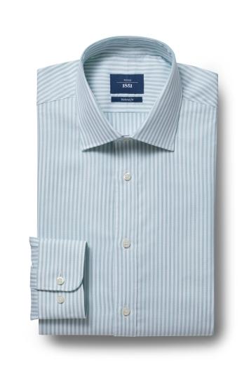 Moss 1851 Tailored Fit Green Single Cuff Bengal Shirt
