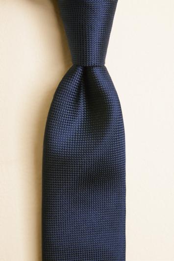 Navy Natte Silk Tie