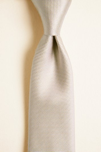 Moss 1851 Gold Plain Natte Silk Tie