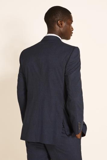 Regular Fit Navy Red Check Jacket