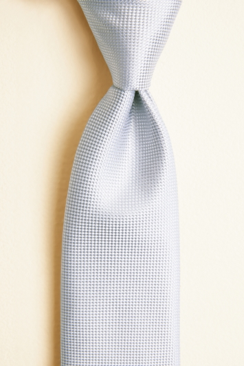 Moss 1851 Silver Plain Natte Silk Tie