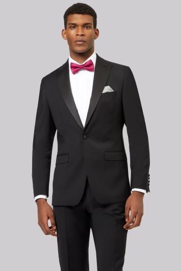Moss 1851 Black Tailored Fit Performance Dress Jacket