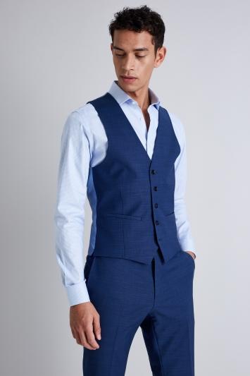 Moss London Peformance Bright Blue Pindot Jacket