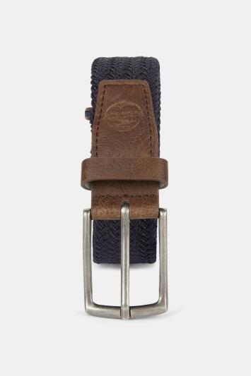 Navy Woven Stretch Belt