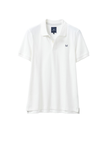 Crew Clothing White Melbury Polo