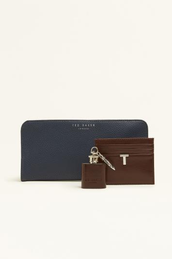 Ted Baker Hipp Cardholder & Flask Keyring Gift Box