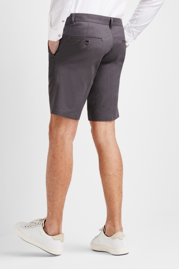 Moss 1851 Tailored Fit Graphite Grey Stretch Chino Shorts