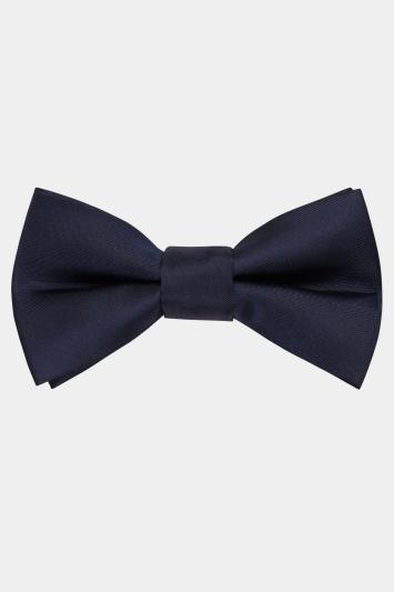 Moss London Navy Skinny Bow Tie
