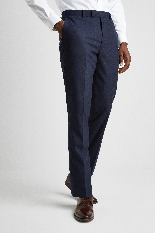 Pants Macron Training Blue Navy Slim Fit Syn Semi Adherent Cuff Ankle