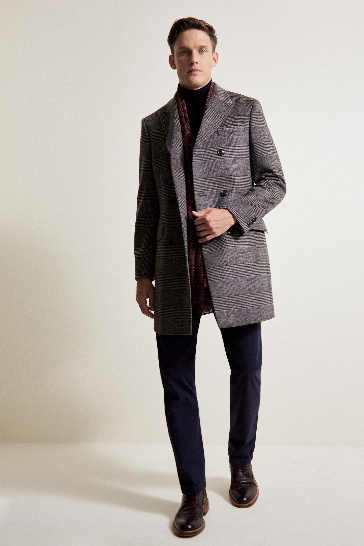 Grey Single Breasted Coat