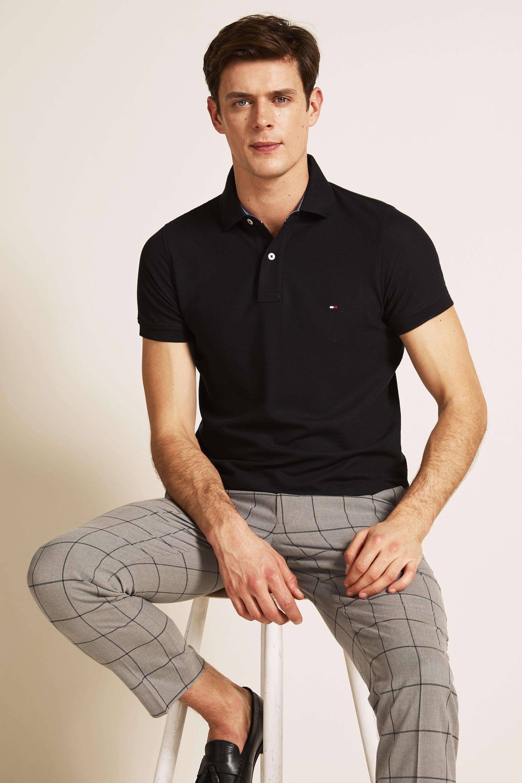 Tommy Hilfiger Black Core Slim-Fit Polo Shirt